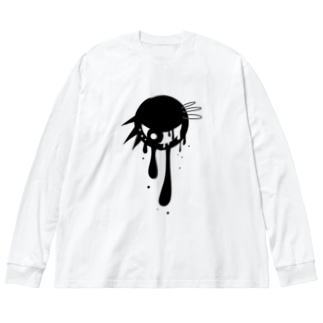 パンクな目玉 Big silhouette long sleeve T-shirts