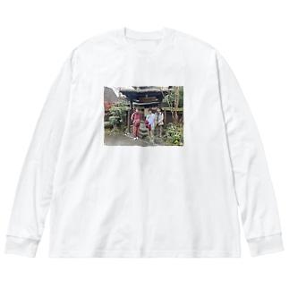 大分 Big silhouette long sleeve T-shirts