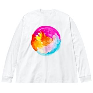 APPLE Big silhouette long sleeve T-shirts