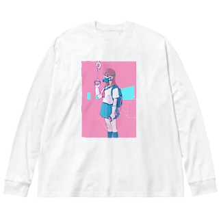 対コロナ女子高生 Big silhouette long sleeve T-shirts