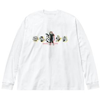 Dancing COWs Big silhouette long sleeve T-shirts