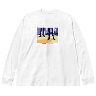 ねこぜもんのDEAD LINE 2AM Big silhouette long sleeve T-shirts