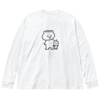 ギョウザ&シウマイ Big silhouette long sleeve T-shirts
