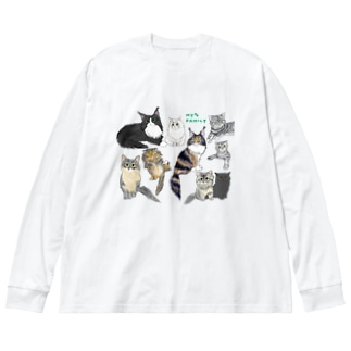 CAT🐾FAMILY Big silhouette long sleeve T-shirts