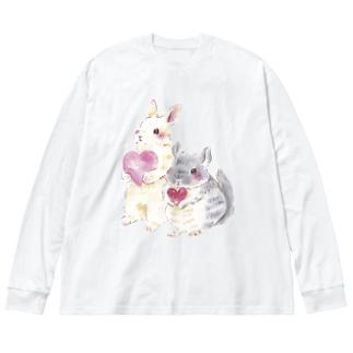 きゅんきゅん Big silhouette long sleeve T-shirts