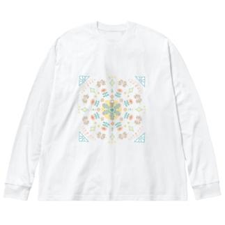 アパレル&トートバッグ北欧風たまねぎ星人 Big silhouette long sleeve T-shirts