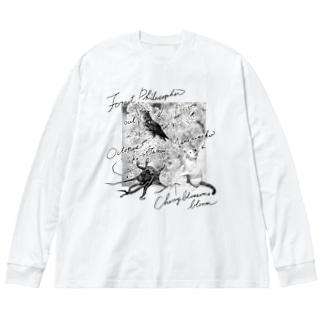 合格祈願盛り Big silhouette long sleeve T-shirts