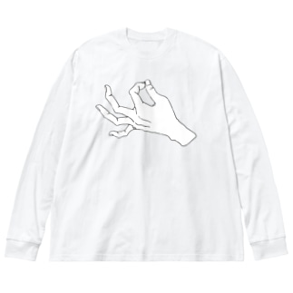 ZIP_白爪 Big silhouette long sleeve T-shirts