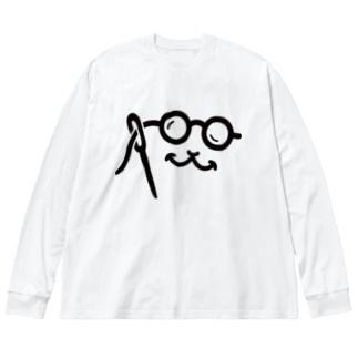 寝巻きにキャミー Big silhouette long sleeve T-shirts