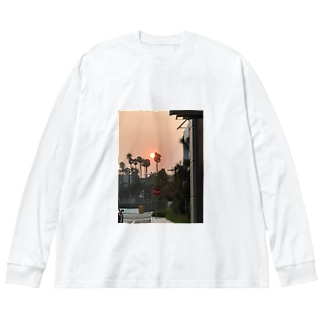 My day off Big silhouette long sleeve T-shirts