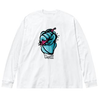 イカゲット!!!! Big Silhouette Long Sleeve T-Shirt