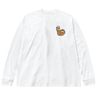 たぬ Big silhouette long sleeve T-shirts