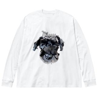 シュナウザー Muu Big silhouette long sleeve T-shirts