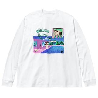 You're so cute💓-02 Big silhouette long sleeve T-shirts