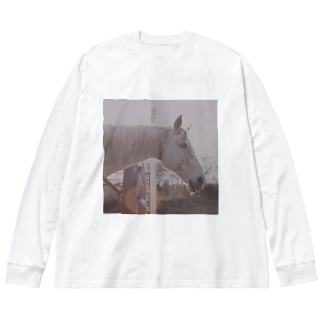 Sun and Horse Big silhouette long sleeve T-shirts