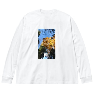 長野行った Big silhouette long sleeve T-shirts