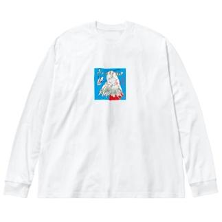 HandyMopGirl Big silhouette long sleeve T-shirts