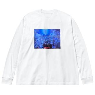 しおりな Big silhouette long sleeve T-shirts