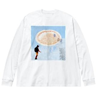 宮城県登米 Big silhouette long sleeve T-shirts