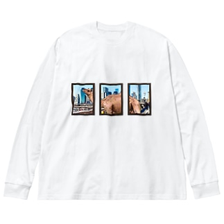 Camel in NYC Big silhouette long sleeve T-shirts