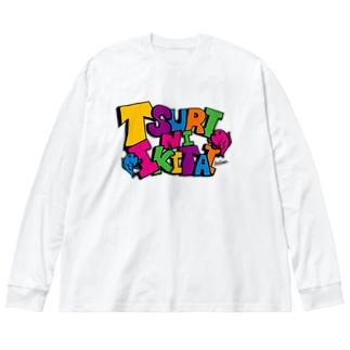TSURINIIKITAI. Big Silhouette Long Sleeve T-Shirt