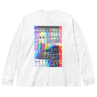 からすなぜなくの Big silhouette long sleeve T-shirts