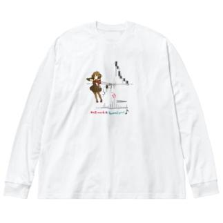 ♪リバーサル Big silhouette long sleeve T-shirts