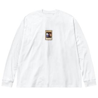 レモン Big silhouette long sleeve T-shirts