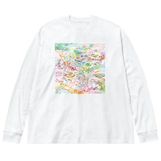 道草 Big silhouette long sleeve T-shirts