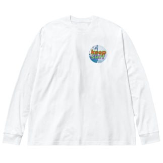 空まるまるヒロシ Big silhouette long sleeve T-shirts