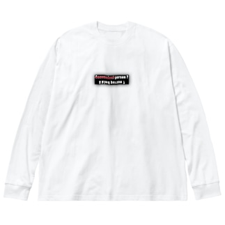 noT convenienT Big silhouette long sleeve T-shirts