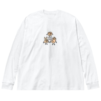 MITSUDOMOE Big silhouette long sleeve T-shirts