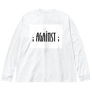 i AGAINST i Big silhouette long sleeve T-shirts