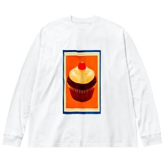 チョコレートカップケーキ Big silhouette long sleeve T-shirts