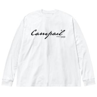 Campail LogoType-Black Big silhouette long sleeve T-shirts