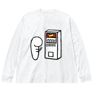 まるむし Big silhouette long sleeve T-shirts