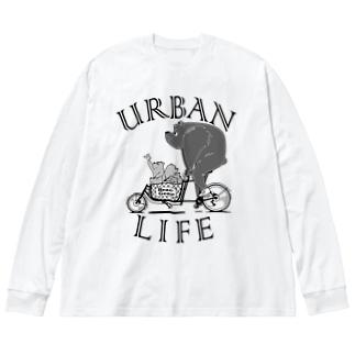 """URBAN LIFE"" #1 Big Silhouette Long Sleeve T-Shirt"