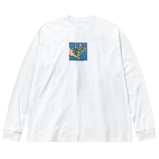 tulip Big silhouette long sleeve T-shirts