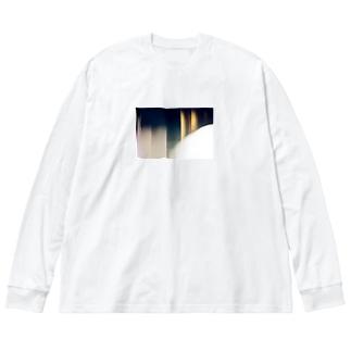 忍耐 Big silhouette long sleeve T-shirts