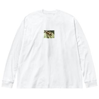 よその犬 Big silhouette long sleeve T-shirts