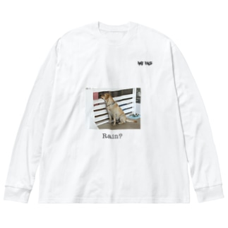 Rain dog 2 Big silhouette long sleeve T-shirts