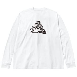 SAUL kuro Big silhouette long sleeve T-shirts