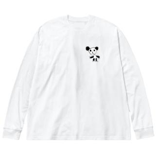 panda Big silhouette long sleeve T-shirts