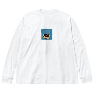 憧れのレコード Big silhouette long sleeve T-shirts