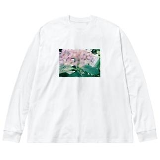 ぼやけあじさい Big Long Sleeve T-shirt