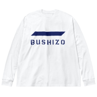 BUSHIZO Big silhouette long sleeve T-shirts