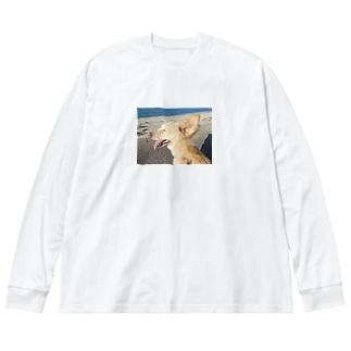 海風~ Big silhouette long sleeve T-shirts
