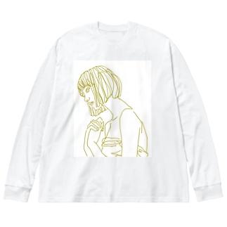 恋する乙女。 Big silhouette long sleeve T-shirts