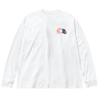 キューくんVaporwave  Big Silhouette Long Sleeve T-Shirt