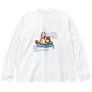 小幡人形 カチカチ山(滋賀) Big Silhouette Long Sleeve T-Shirt